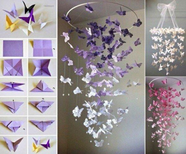 Как сделать украшение из бабочек своими руками