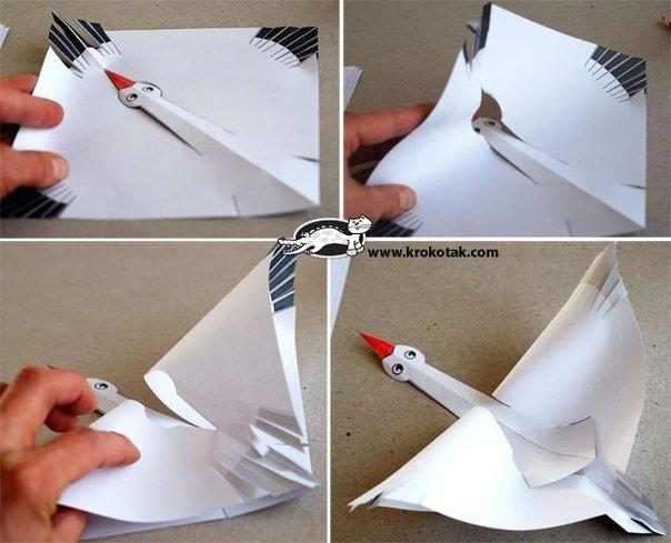 Изготовление журавля из бумаги своими руками 23